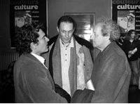 Avec Bernard Noël et Jacques Roman, à Vénissieux (fin des années 90).