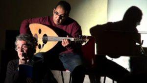 Lecture de poèmes accompagnée par Lakhdar Hanou à Toulouse (Centre social Bagatelle) en automne 2012.